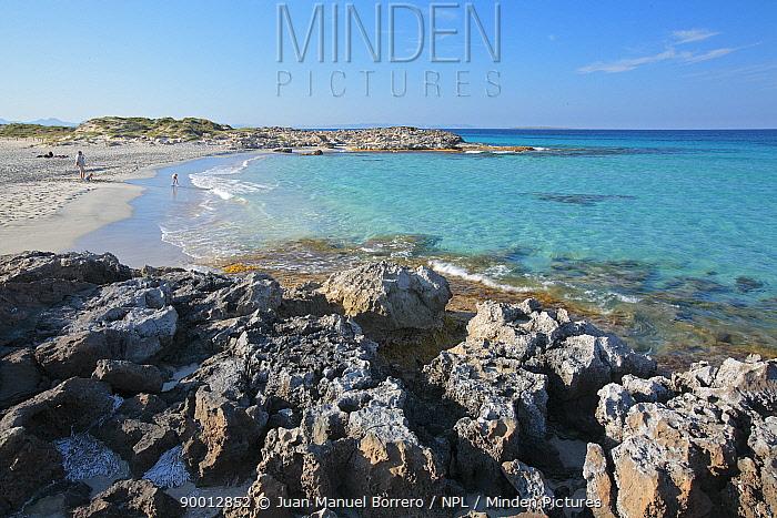Sa Roqueta beach in the Marine Reserve of Freus d?Eivissa i Formentera Formentera Island, Balearic Islands  -  Juan Manuel Borrero/ npl