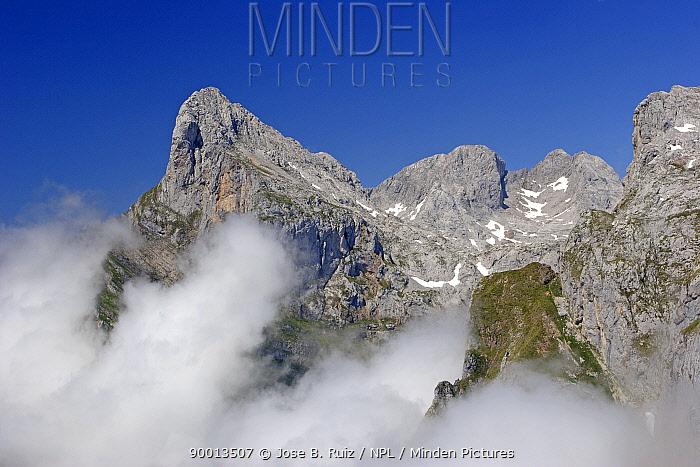 Mountain tops above cloud, Picos de Europa, Spain  -  Jose B. Ruiz/ npl