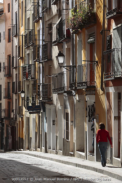 Colourful buildings in Cuenca city Spain  -  Juan Manuel Borrero/ npl