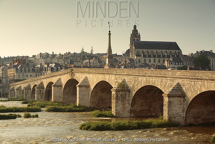 Bridge over the river in Blois, Loire Valley, France  -  Juan Manuel Borrero/ npl
