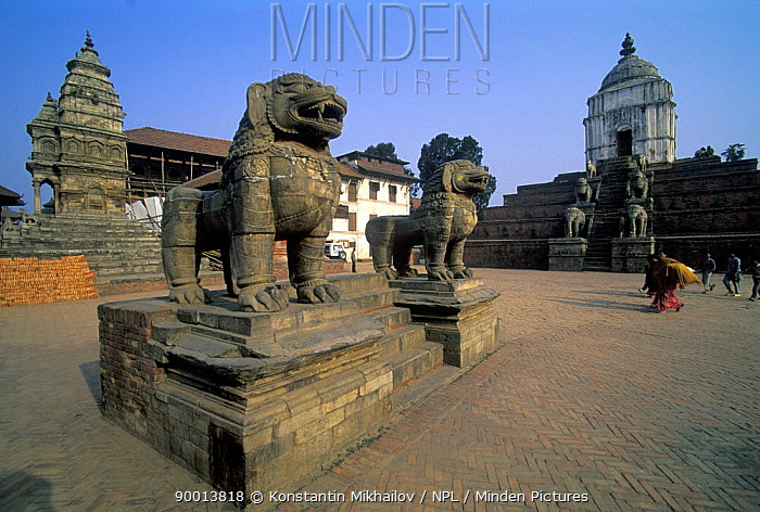 Temple statues, Bhaktapur, Nepal  -  Konstantin Mikhailov/ npl
