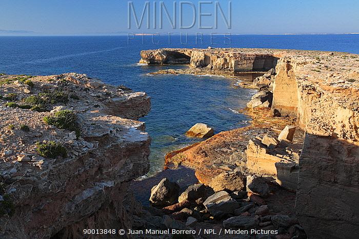 Punta Pedreras in the Marine reserve of Freus d?Eivissa i Formentera Formentera, Balearic Island  -  Juan Manuel Borrero/ npl