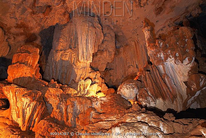 Rock formations in cave, Ankarana NR, Madagascar  -  Claudio Velasquez/ npl