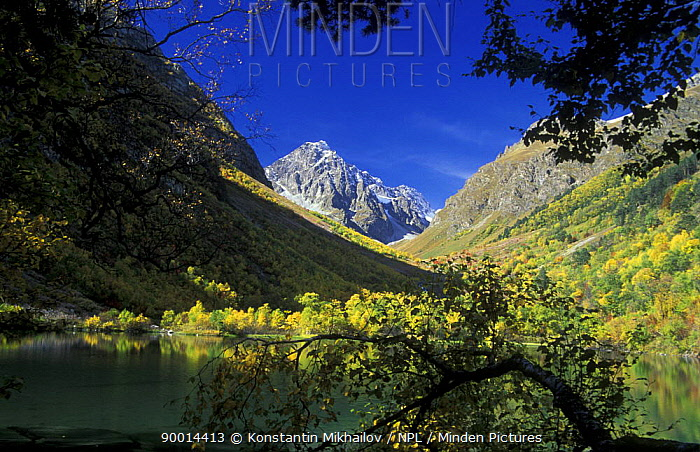 Boduki lake, Teberdinskiy Zapovednik, Reserve, West Caucasus mountains, Karachayeco Cherkessiya, Russia  -  Konstantin Mikhailov/ npl