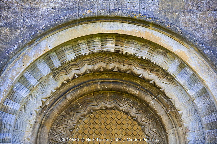 Archway at the church of St Mary at Guiting power, The Cotswolds, Gloucestershire  -  Nick Turner/ npl