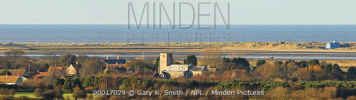 Morston village showing Church, North Norfolk, UK  -  Gary K. Smith/ npl