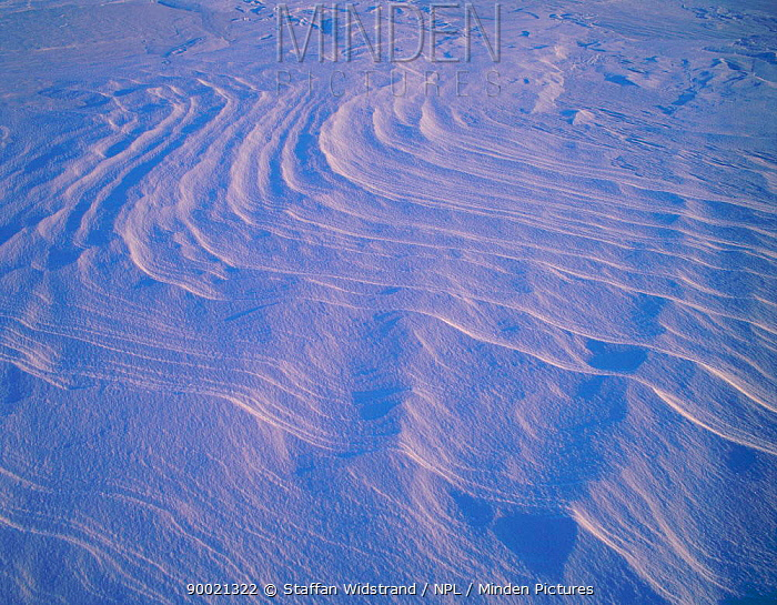 Patterns in the snow, ice, Ellesmere Island, Canada March, -40 degrees C  -  Staffan Widstrand/ npl