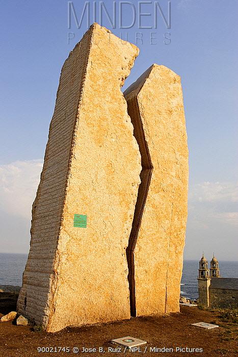 Monument A Ferida (The Wound) at Muxia, Costa da Morte, Galacia, Spain  -  Jose B. Ruiz/ npl