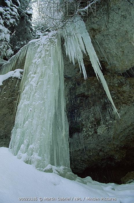 Frozen waterfall Vorarlberg, Austria  -  Martin Gabriel/ npl