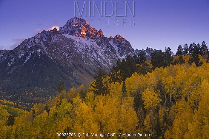 Mount Sneffels, Mount Sneffels Wilderness area, Colorado, USA  -  Jeff Vanuga/ npl