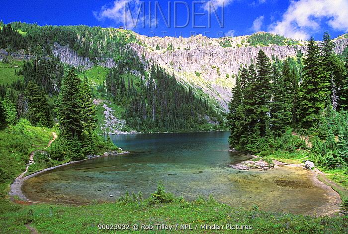 Eunice Lake, Mt Rainier NP, Washington, USA August 2000  -  Rob Tilley/ npl