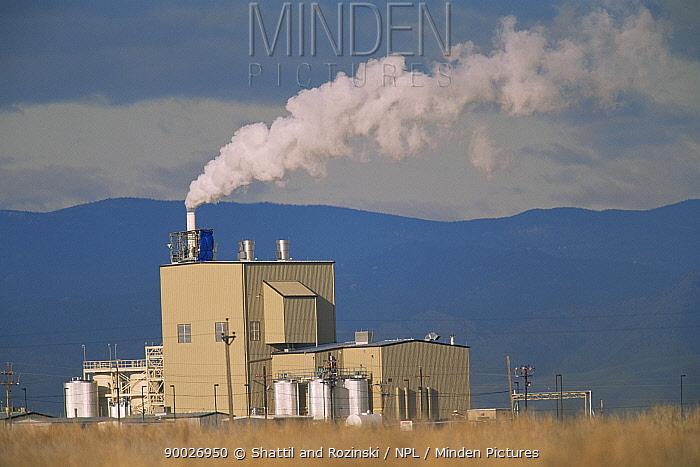 Submerged Quench incinerator for treating chlorofluorocarbon (CFC) compunds, Rocky Mt Arsenal NWR, Colorado, USA  -  Shattil & Rozinski/ npl