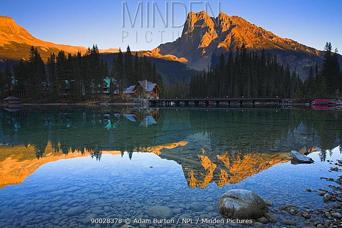 Emerald Lake and Lodge, Yoho National Park, British Columbia, Canada  -  Adam Burton/ npl
