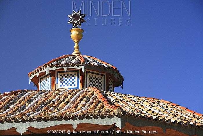 Roof in Cuenca city, Spain  -  Juan Manuel Borrero/ npl