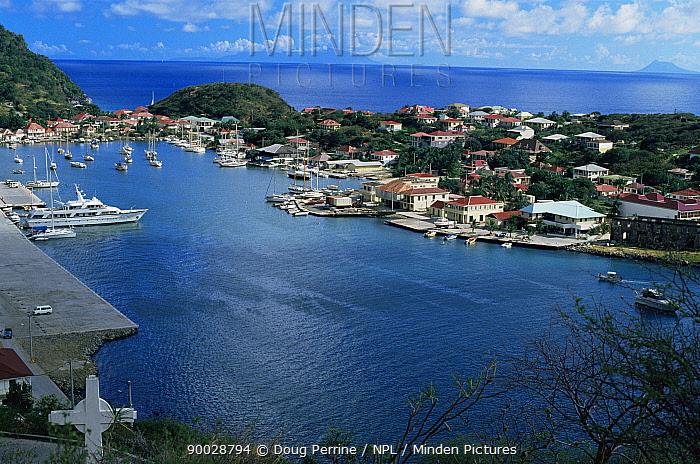 Gustona harbour, St Barts, Caribbean  -  Doug Perrine/ npl
