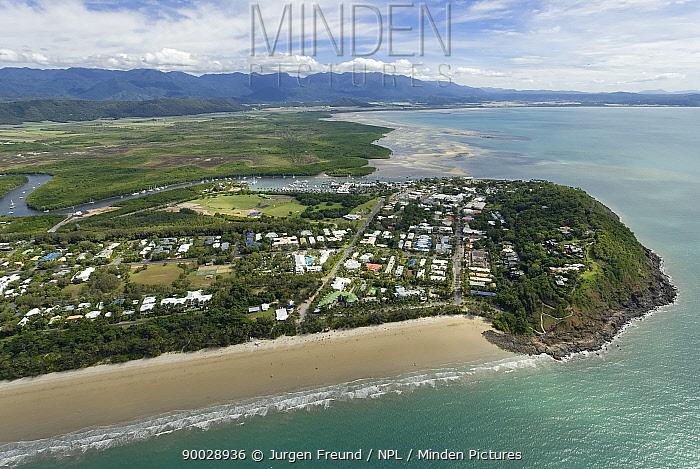 Aerial view of Port Douglas, Queensland, Australia  -  Jurgen Freund/ npl