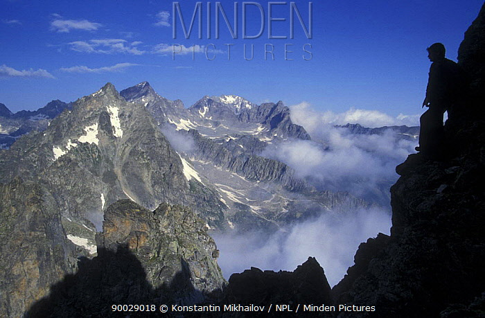 Rocky panorama in Ullu-Khatipara site (3000 m), July Teberdinskiy Zapovednik, Reserve, Caucasus mountains, Karachayevo Chekessiya, Russia  -  Konstantin Mikhailov/ npl
