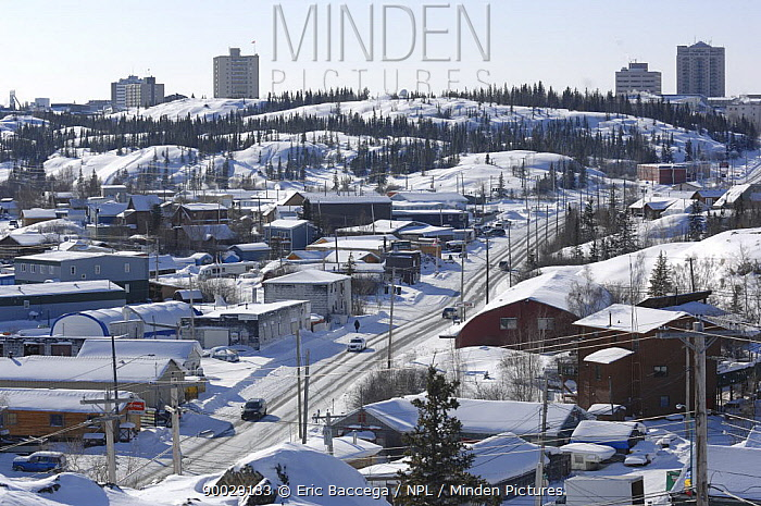 Yellowknife, Capital of the Northwest Territories, Canada March 2007  -  Eric Baccega/ npl