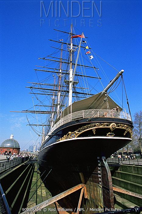 The Cutty Sark ship at Greenwich, London, UK  -  Rod Williams/ npl