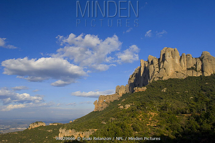 Montserrat Mountain Natural Park, Catalonia, Barcelona, Spain  -  Inaki Relanzon/ npl