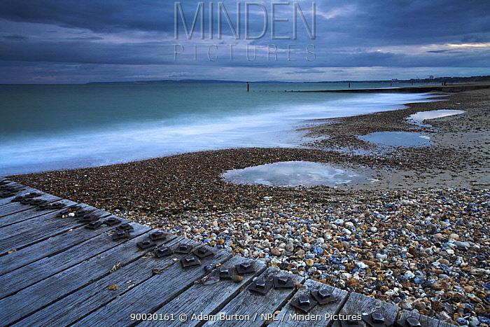 Stormy weather on Southbourne Beach, Bournemouth, Dorset  -  Adam Burton/ npl