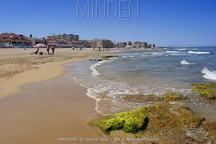 View along beach, Playa de la Mata, Torrevieja, Alicante, Spain  -  Jose B. Ruiz/ npl