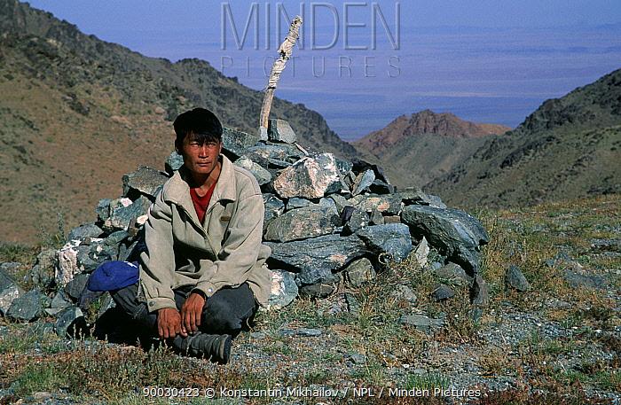 Nomad, Gobi Desert, Mongolia  -  Konstantin Mikhailov/ npl