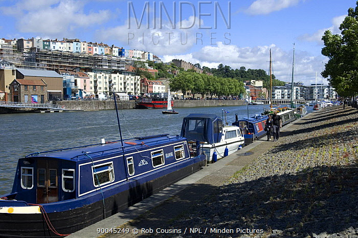 Minden Pictures stock photos - Narrowboats and cabin