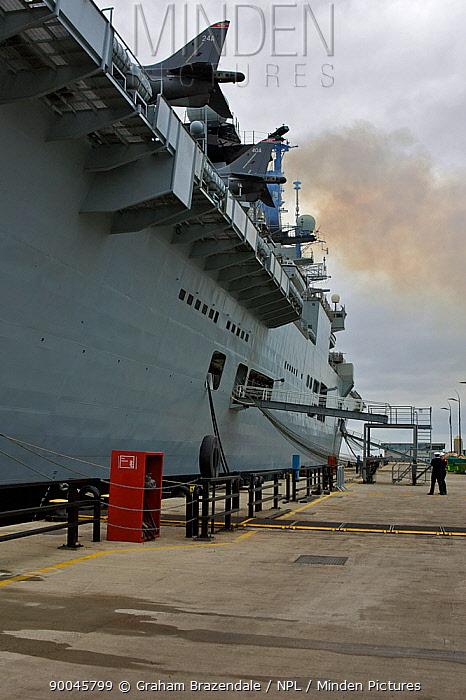 Aircraft Carrier HMS Illustrious at Liverpool, UK October 2008  -  Graham Brazendale/ npl