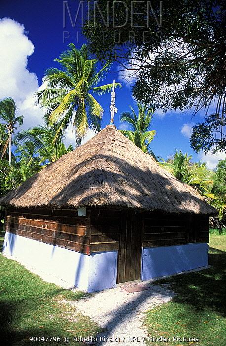 Traditional thatched building, Ile des pins (Isle of Pines), New Caledonia, Melanesia  -  Roberto Rinaldi/ npl