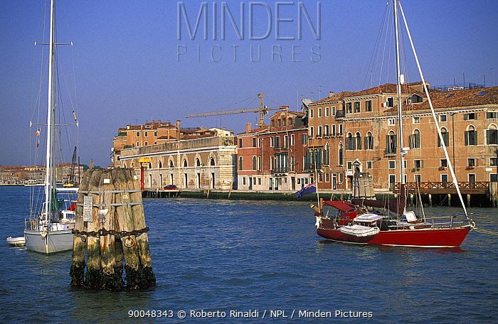 Yachts moored in Venice, Italy  -  Roberto Rinaldi/ npl