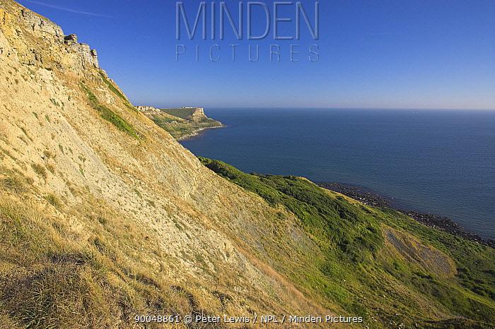 St Albans Head from Egmont Point, Dorset Jurassic Coast World Heritage Site September 2005  -  Peter Lewis/ npl
