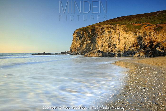 Porthtowan beach and coastline, Cornwall, UK September 2008  -  Ross Hoddinott/ npl