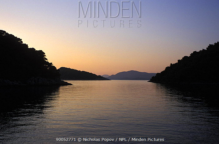 Sunset over the Dalmatian Coast, Croatia August 2006  -  Nicolas Popov/ npl