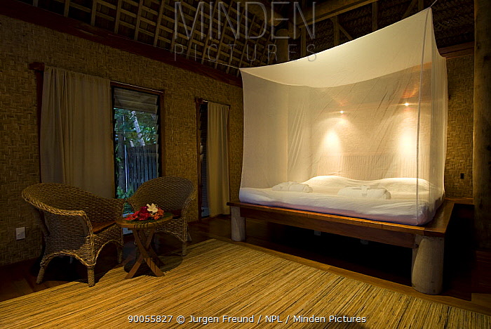 Bedroom in Fafa Island Resort, Fale, Nuku'alofa, Tonga, Melanesia, 2007  -  Jurgen Freund/ npl