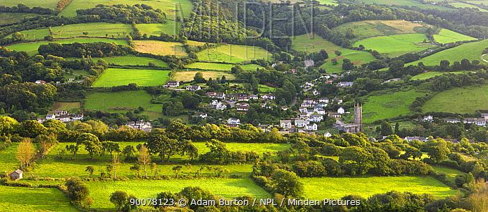 Combe Martin village, in Exmoor National Park, Devon, England  -  Adam Burton/ npl