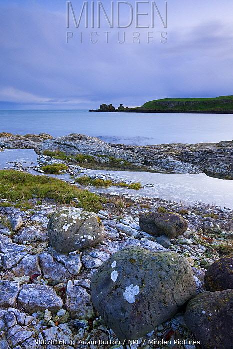 Isle of Muck from Portmuck, Islandmagee Peninsula, Larne, Northern Ireland  -  Adam Burton/ npl