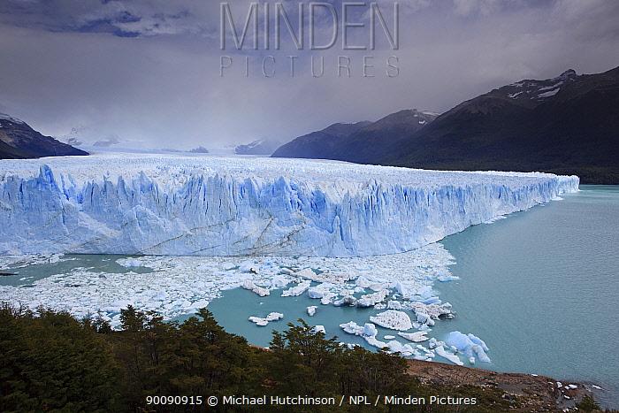 Edge of the Perito Moreno Glacier, Los Glaciares National Park, Argentina February 2009  -  Michael Hutchinson/ npl
