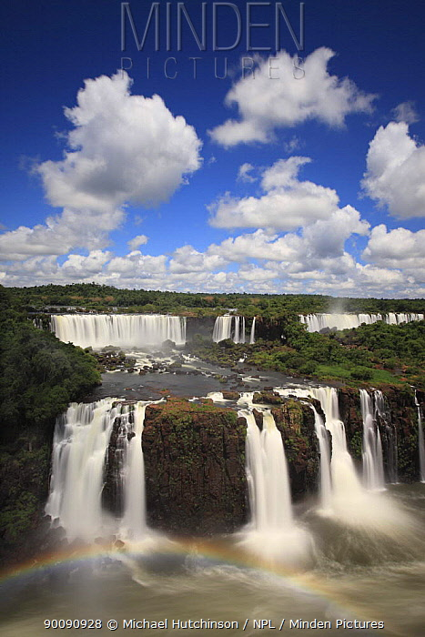 Iguazu Falls with rainbow, Igua?u National Park, Brasil February 2009  -  Michael Hutchinson/ npl