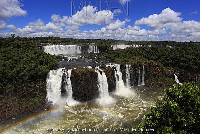 Iguazu Falls with rainbow, Igua?u National Park, Brasil  -  Michael Hutchinson/ npl