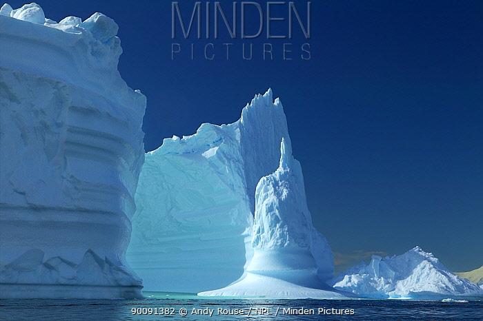 Spectacular iceberg, Fournier Bay, Antarctica (non-ex)  -  Andy Rouse/ npl