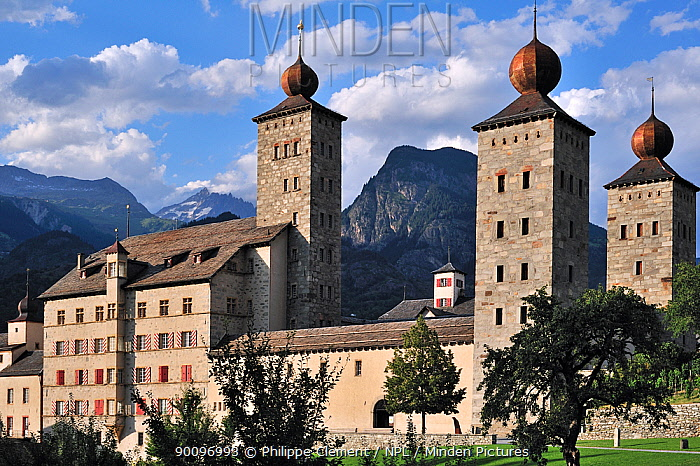Stockalper Palace, Brig, Switzerland, July 2009  -  Philippe Clement/ npl