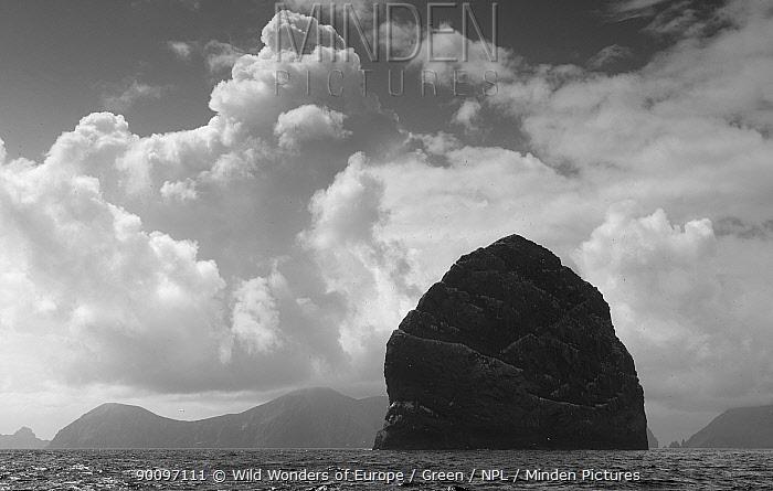 Northern gannet (Morus bassanus) colony, St Kilda, Scotland, May 2009  -  WWE/ Green/ npl