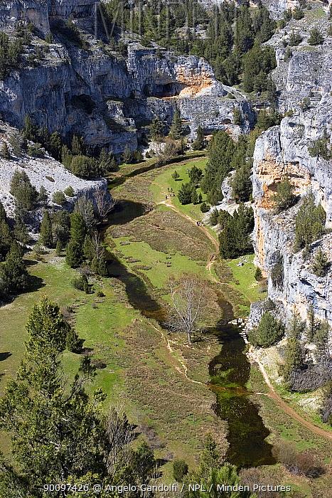 Canyon of Rio Lobos, Castilla y Leon, Spain April 2006  -  Angelo Gandolfi/ npl