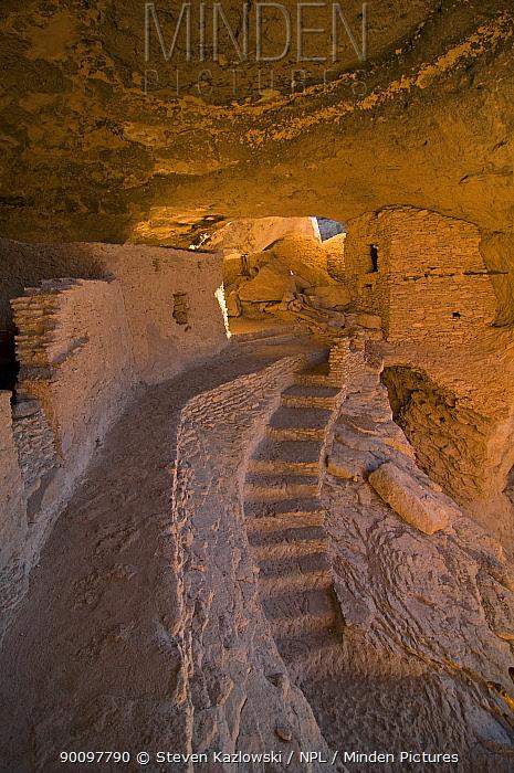 Gila Cliff Dwellings National Monument, southwestern New Mexico, USA Long-abandoned homes of the Mogollon people 2009  -  Steven Kazlowski/ npl