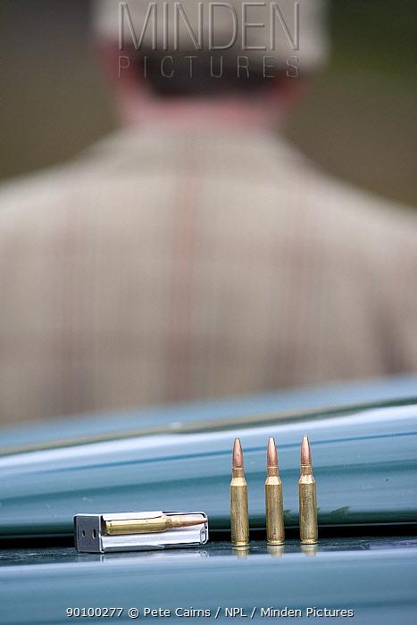Ammunition for gun (deer-stalking) Glenfeshie, Cairngorms, Scotland, UK, June 2008  -  Pete Cairns/ npl