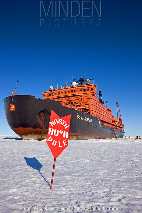 Russian nuclear icebreaker, NS 50 Lyet Pobyedi (50 Years of Victory) at the North Pole, July 2008  -  Sue Flood/ npl