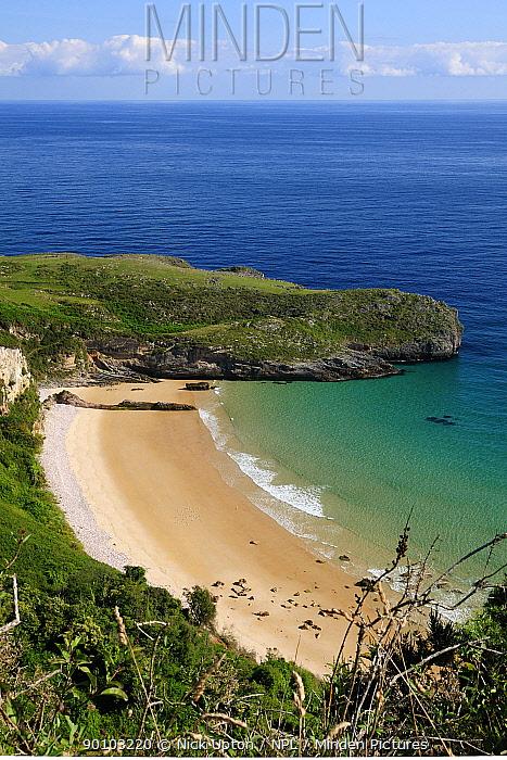 Ballota beach, near Llanes, Asturias, Spain July 2009  -  Nick Upton/ npl