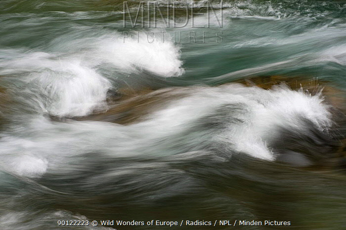 Fast flowing water, Bjelovac Cascade, River Tara, Durmitor NP, Montenegro, October 2008  -  WWE/ Radisics/ npl