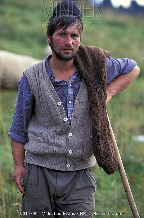 Shepherd, Transylvania, Romania  -  Justine Evans/ npl